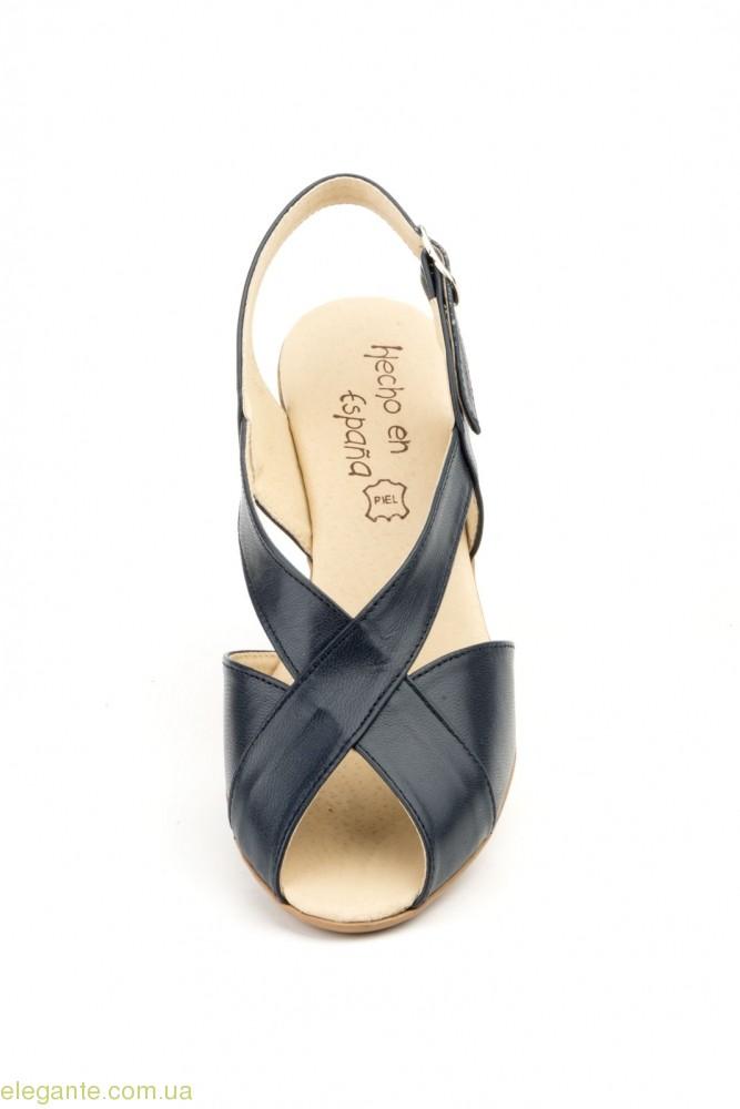 Жіночі босоніжки на каблуку JAM Cutillas темно-сині 0
