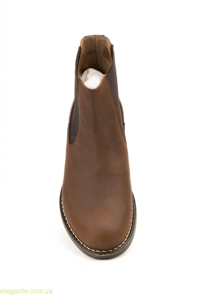 Мужские ботинки еластические SCN коричневые 0