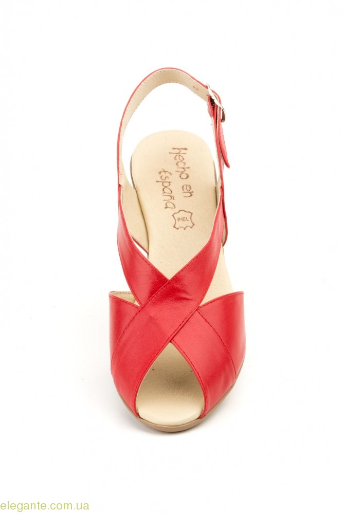 Жіночі босоніжки на каблуку JAM Cutillas червоні 0