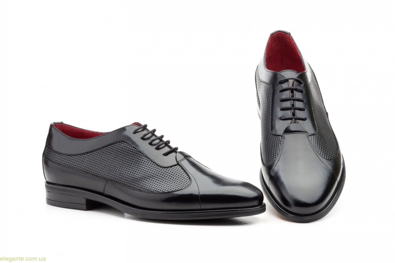 Мужские туфли оксфорды Keelan чёрные 0