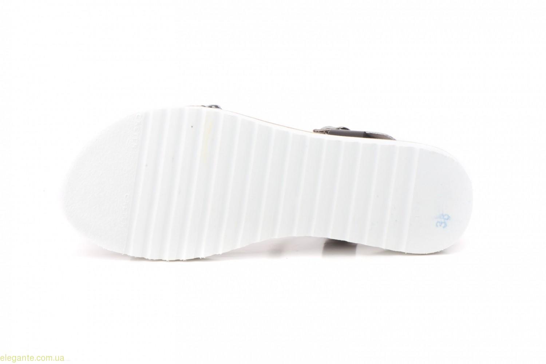 Жіночі сандалії MISTRAL чорні з срібним 0