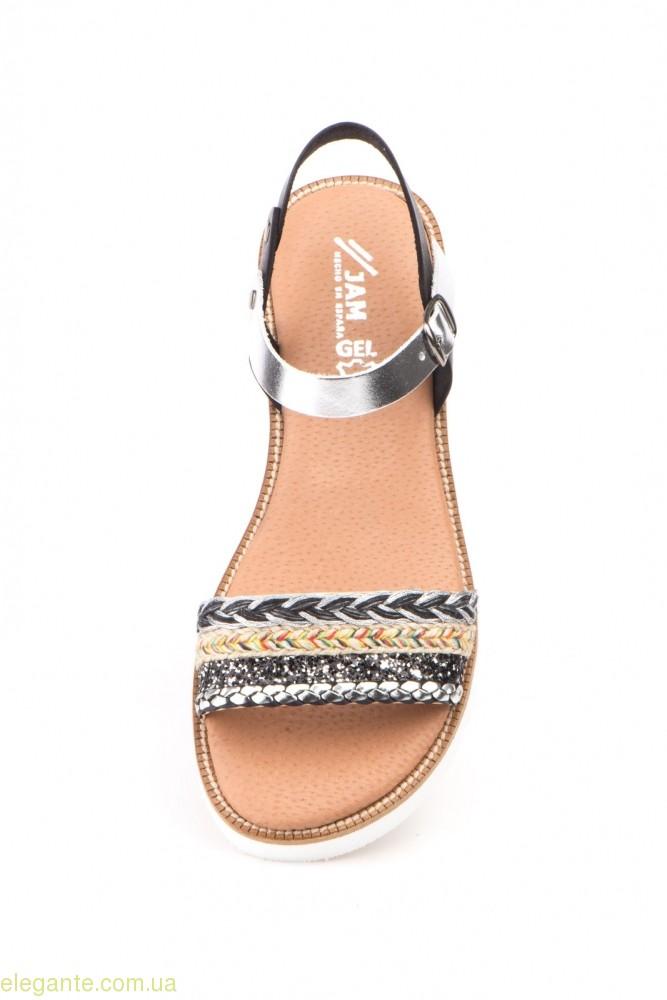 Женские сандалии MISTRAL чёрные  с серебряным 0