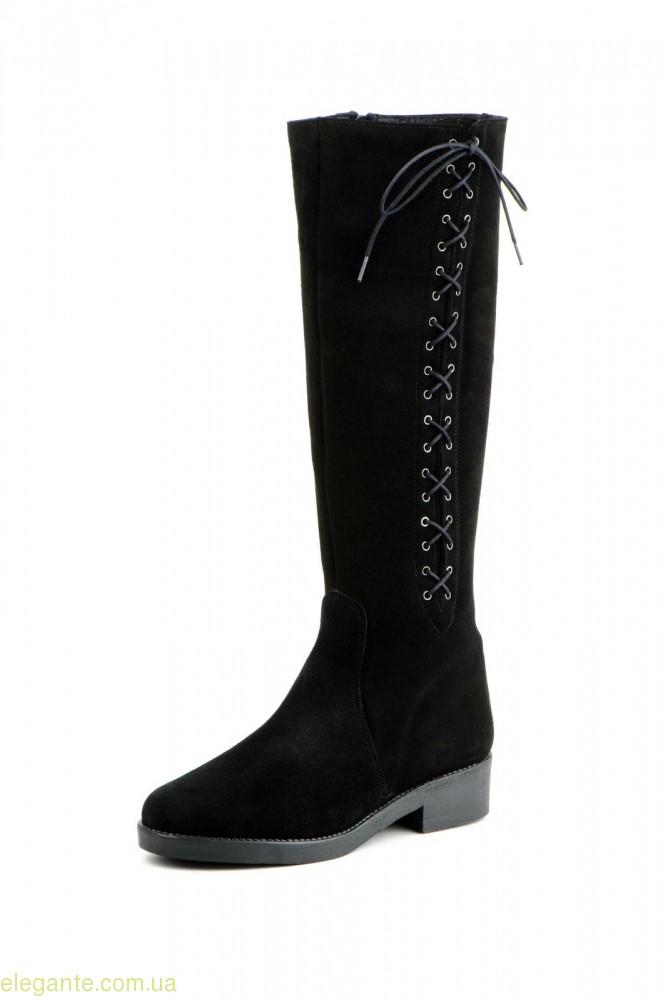 Жіночі чоботи JAM замшеві чорні 0