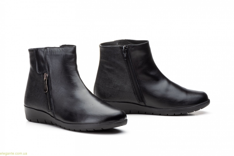 Женские ботинки на танкетке JAM2 чёрные 0