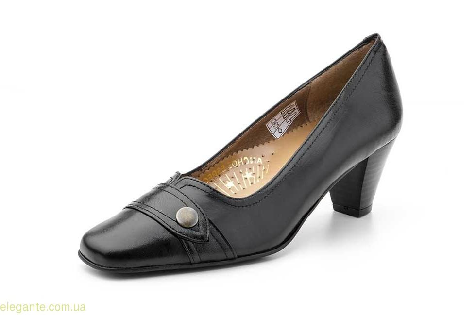Женские туфли на каблуке JAM3 чёрные 0