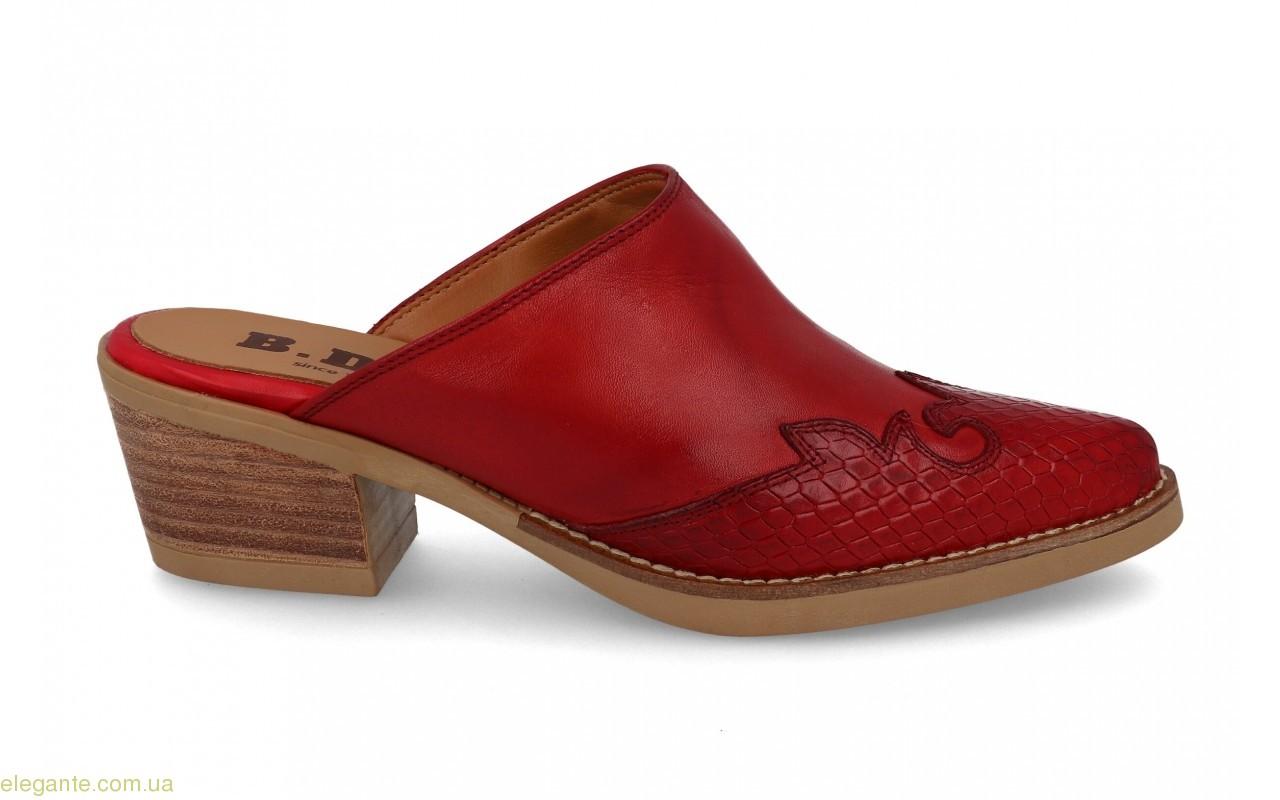 Женские шлепанцы в ковбойском стиле BDA на каблуке 0