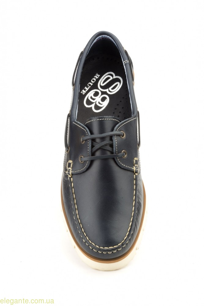 Мужские туфли мокасины NAUTIC BLUE синие 0