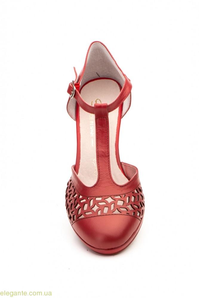 Жіночі туфлі на каблуку ANNORA1 червоні 0