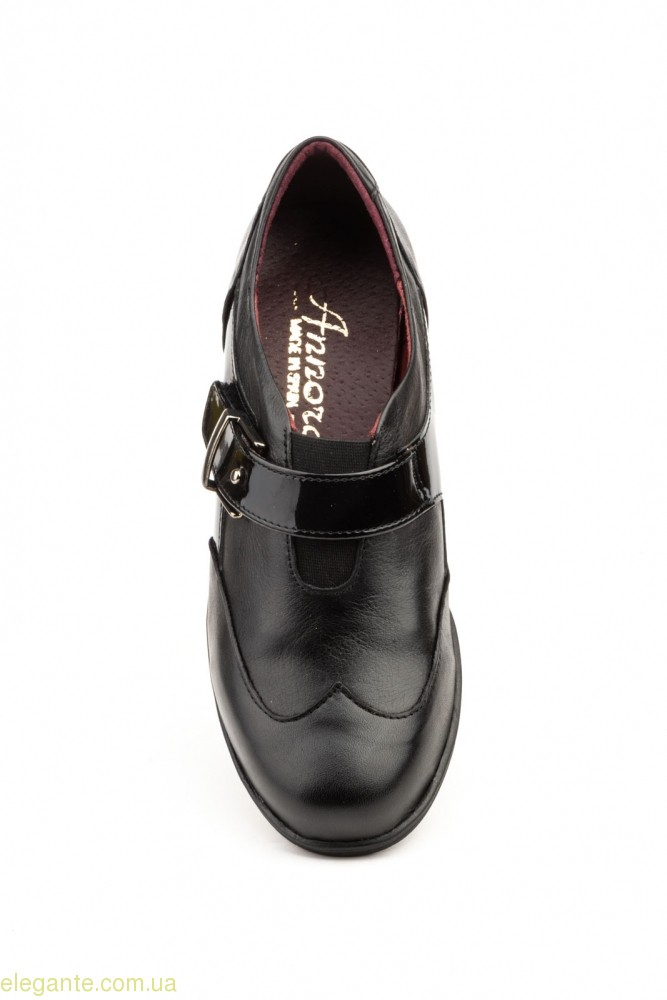 Женские туфли на танкетке ANNORA1 чёрные  0