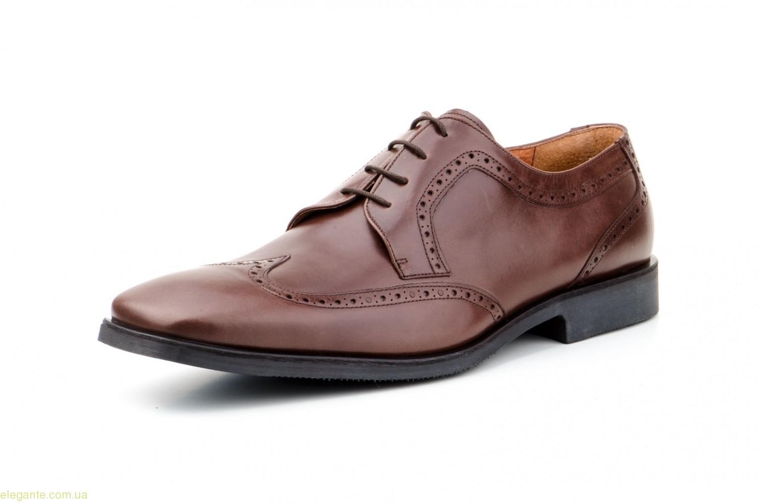 Чоловічі туфлі дербі CARLO GARELLI xxl коричневі 0