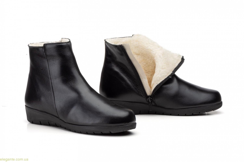 Женские ботинки на меху JAM чёрные 0