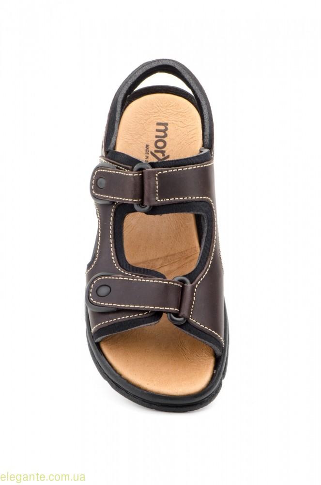 Мужские сандалии MORXIVA коричневые 0