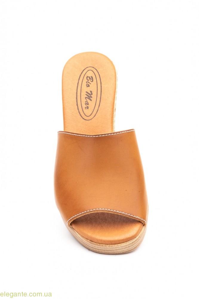 Женские шлепанцы BIO Mar коричневые 0