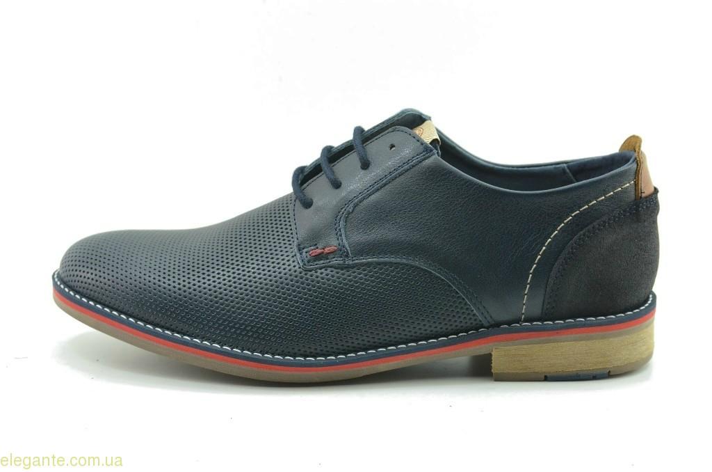 Чоловічі туфлі святкові DJ SANTA сині 0