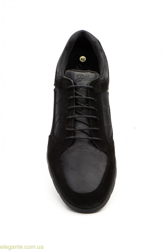 Чоловічі кросівки замшеві Diluis Militar чорні 0