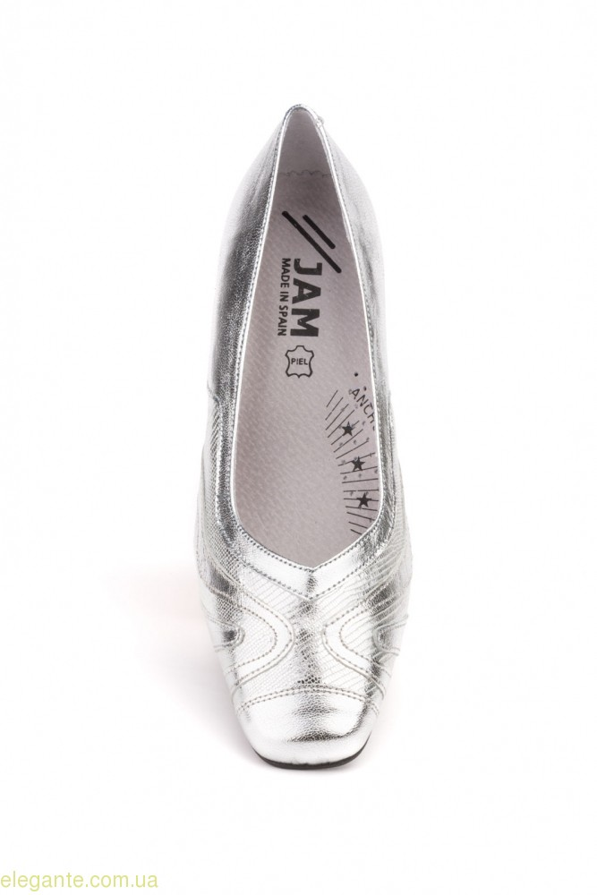 Женские туфли JAM1 серебряные 0