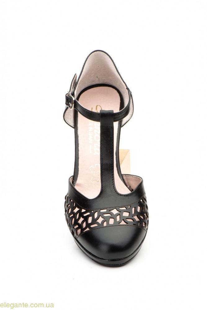 Женские туфли на каблуке ANNORA1 чёрные 0