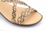 Жіночі босоніжки косичкою ALTO ESTILO коричнево-бронзові 1