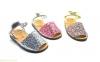 Детские босоножки абарки MENORQUINAS серебряные 1