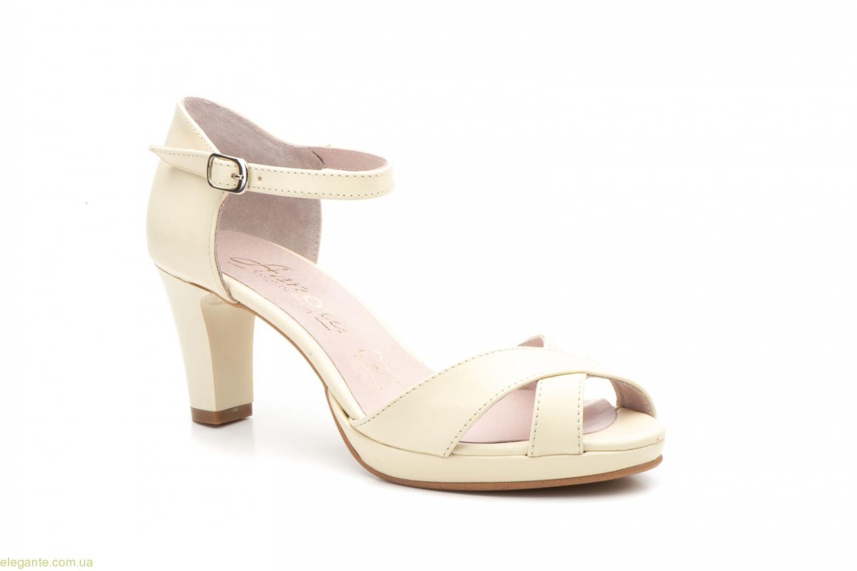 acf58a9ff12f3d Жіночі босоніжки на каблуку ANNORA бежеві〛— купити по ціні 1480 грн ...