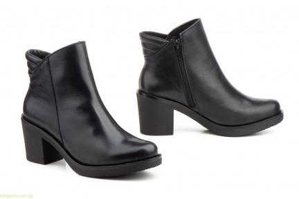 Женские ботинки на каблуке JAM чёрные