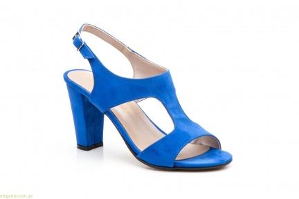 Женские босоножки замшевые Jennifer Pallares синие