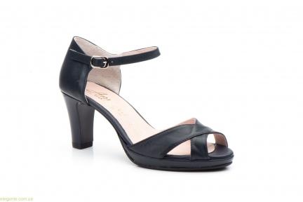 Женские босоножки на каблуке ANNORA синие