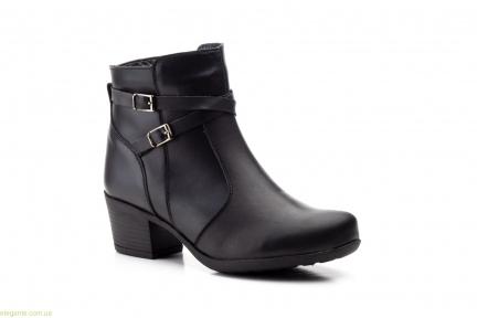 Женские ботинки на каблуке JAM2 чёрные