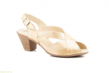 Женские босоножки на каблуке JAM Cutillas бежевые