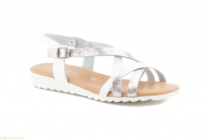 Жіночі босоніжки JAM біло-срібні