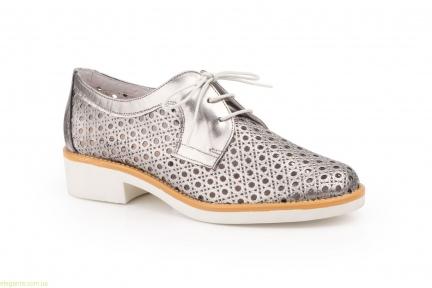 Жіночі туфлі з перфорацією JAM колір  свинцю