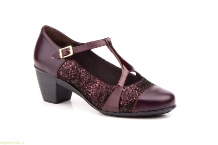 Женские туфли на каблуке GAVIS бордовые
