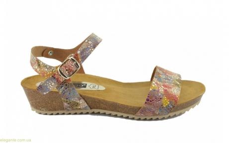Женские сандалии на корковой танкетке DIGO DIGO многоцветные