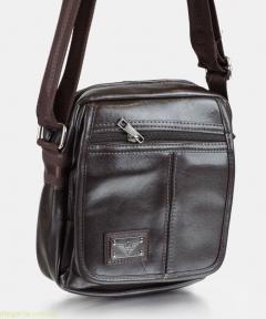 Мужская сумочка на плечо закругленная