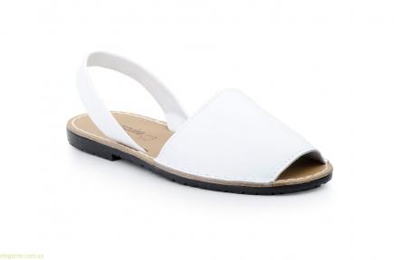 Жіночі босоніжки абарки MENORQUINAS1 білі