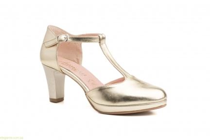 Жіночі туфлі на каблуку ANNORA золоті