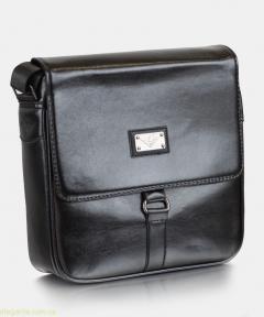 Чоловіча сумочка на плече  сучасна чорна