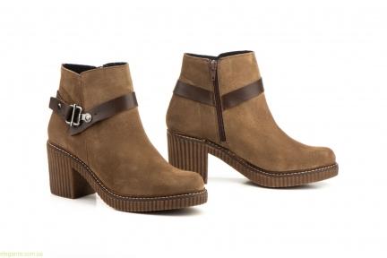 Жіночі черевики із пряжкою  CASTOR коричневі