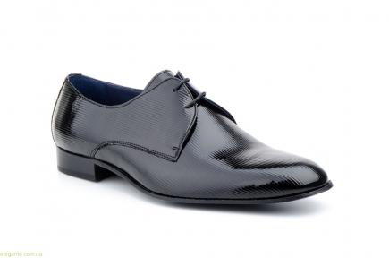 Мужские туфли Paco Valentino чёрные лаковые