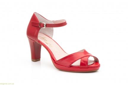 Жіночі босоніжки на каблуку ANNORA червоні