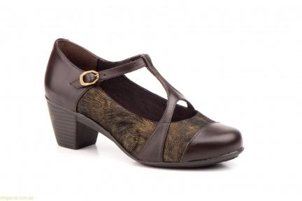 Женские туфли на каблуке GAVIS коричневые
