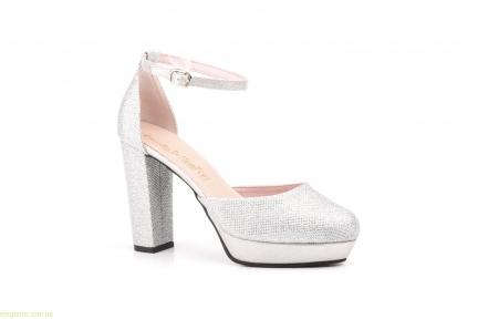 Женские туфли праздничные  LUMINOR серебряные от Jennifer Pallares