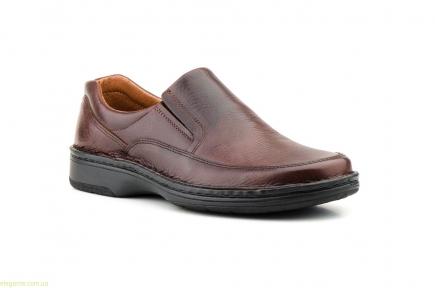 Мужские туфли SCN CRISPINOS еластические коричневые