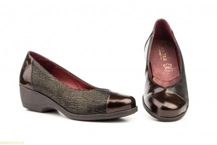 Жіночі туфлі на танкетці ANNORA коричневі