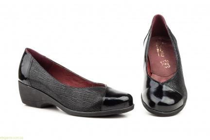 Жіночі туфлі на танкетці ANNORA чорні