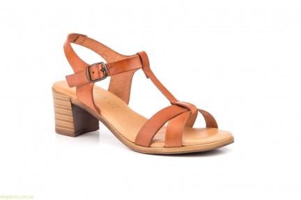 Жіночі босоніжки на каблуку JAM1 коричневі