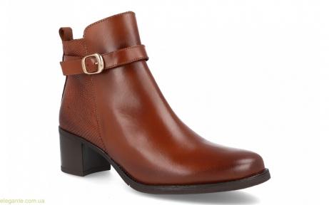 Жіночі черевики на каблуку JPX коричневі