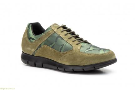 Мужские кросовки замшевые Diluis Militar зелёные