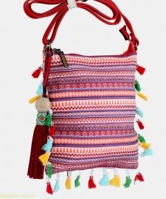 Женская сумочка на плечо ETNICA молодежная розовая