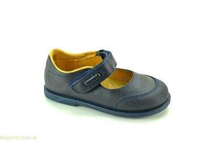 Детские школьные туфли XIQUETS синие для девочки